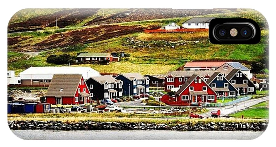 Shetland IPhone X Case featuring the photograph Scalloway - Shetland Islands by Luisa Azzolini