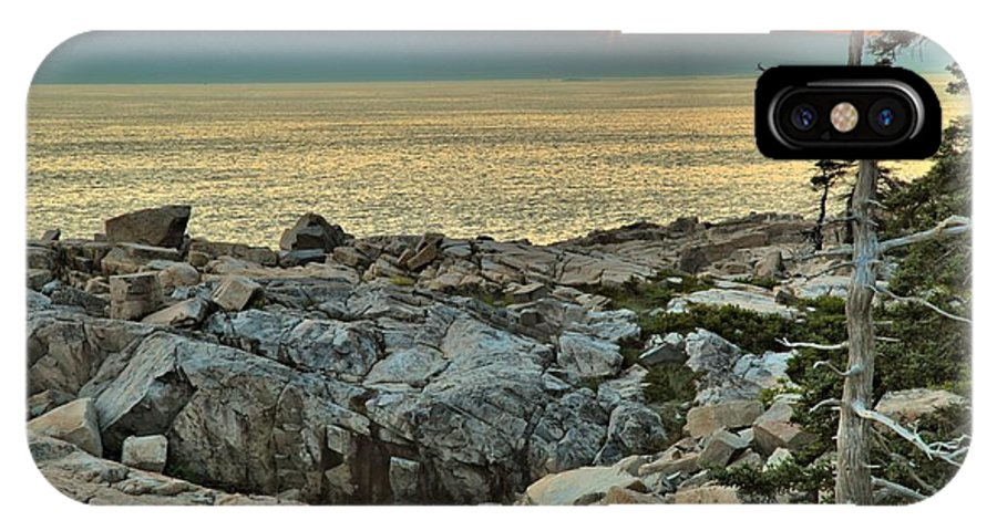 Schoodic Peninsula IPhone X Case featuring the photograph Schoodic Sunset by Adam Jewell