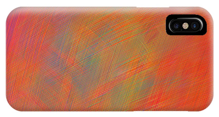 Abstract IPhone X Case featuring the digital art Scratched by ME Kozdron