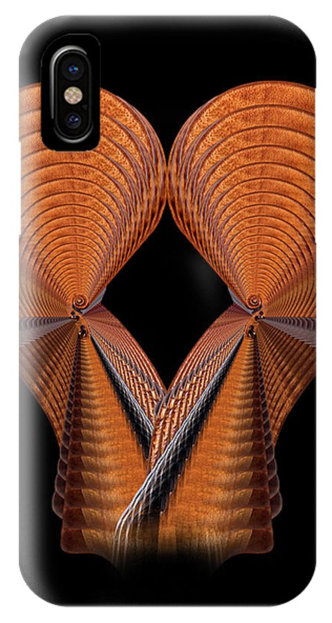 Strad IPhone X Case featuring the photograph Scroll Construction by Endre Balogh