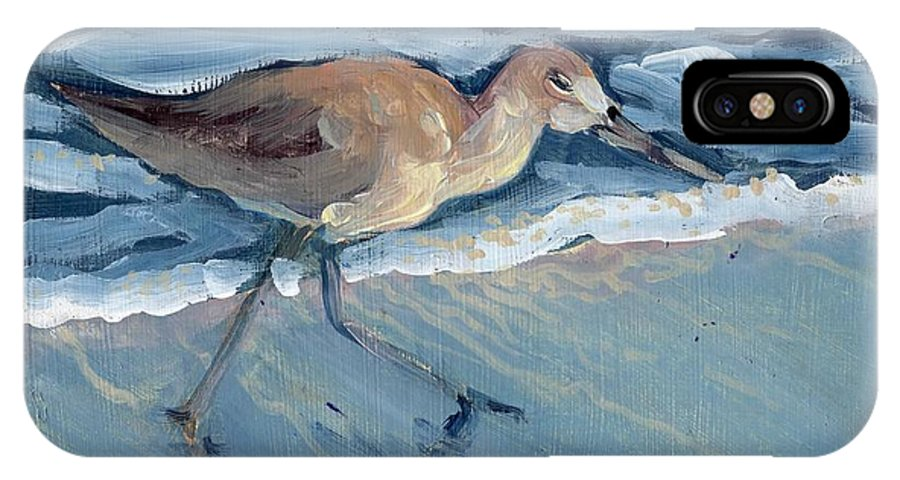 Bird IPhone X Case featuring the painting Sea Bird by Sheila Wedegis