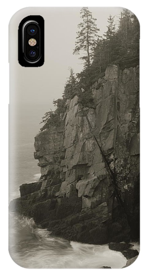 Cliff IPhone X / XS Case featuring the photograph Sea Cliff At Quoddy Head by Roupen Baker