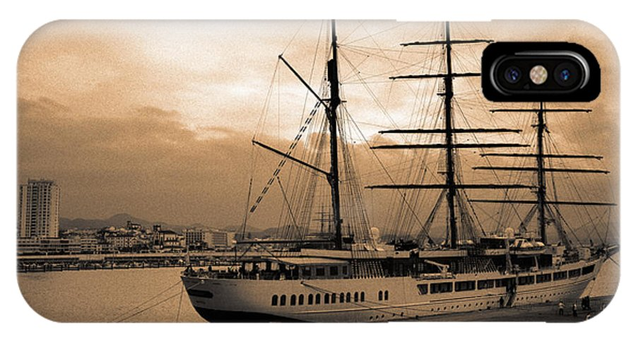 Barque IPhone X Case featuring the photograph Sea Cloud II by Gaspar Avila