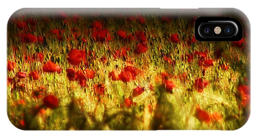 Red IPhone X Case featuring the photograph Sea Of Red by Mimulux patricia No