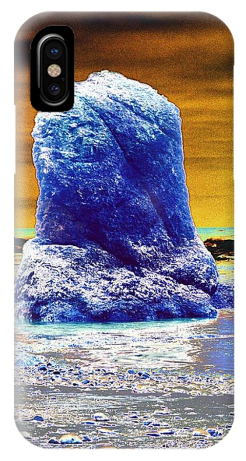 Water IPhone X Case featuring the photograph Sea Stack by One Rude Dawg Orcutt