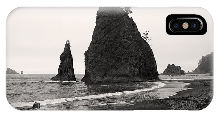 Olympic IPhone X Case featuring the photograph Sea Stacks In The Fog by Pierre Leclerc Photography