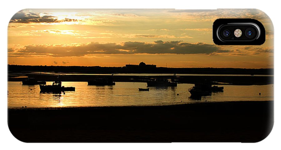 Landscape IPhone X Case featuring the photograph Seabrook At Sunset 1a by Robert Morin