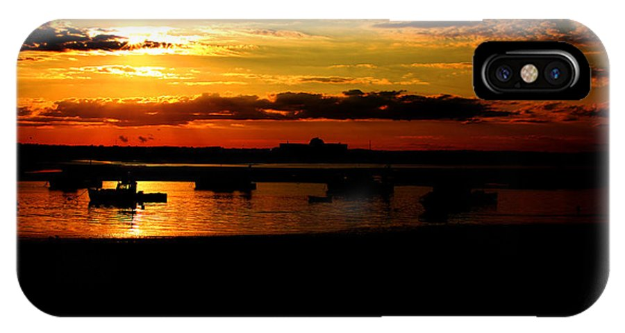 Landscape IPhone X Case featuring the photograph Seabrook At Sunset 1b by Robert Morin
