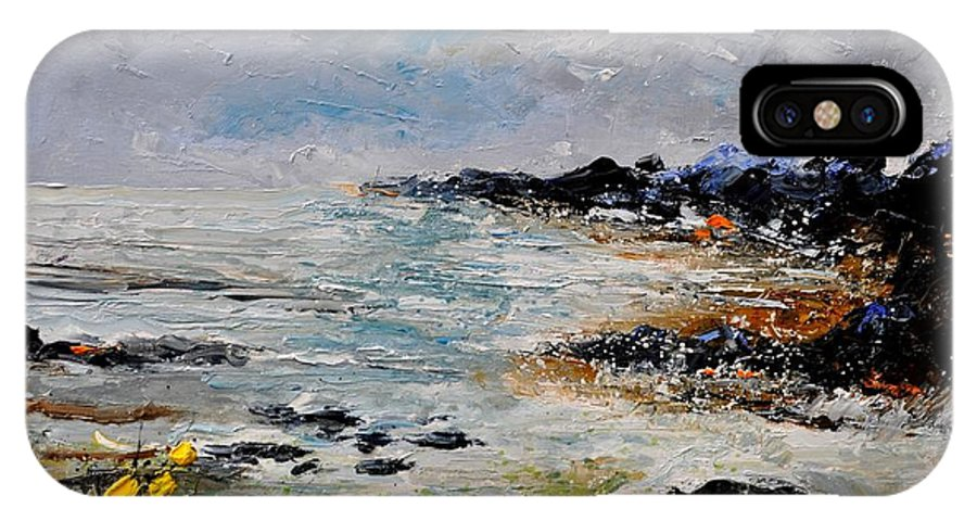 Seascape IPhone X Case featuring the painting Seascape 452160 by Pol Ledent