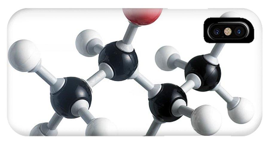 Artwork IPhone X Case featuring the photograph Sec-butanol Molecule by