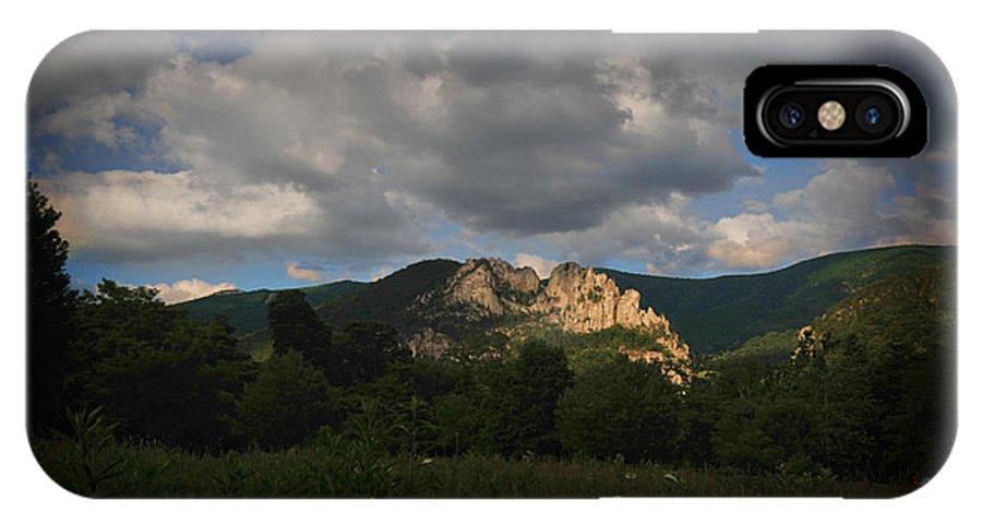 Seneca Rocks IPhone X Case featuring the photograph Seneca Rocks At Evening by Dan Friend