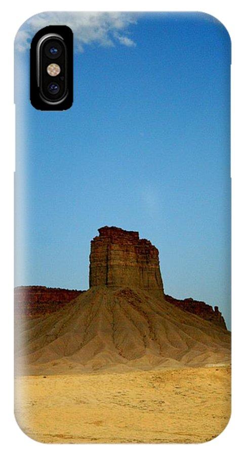 Desert IPhone X Case featuring the photograph Sentinel by Ellen Heaverlo