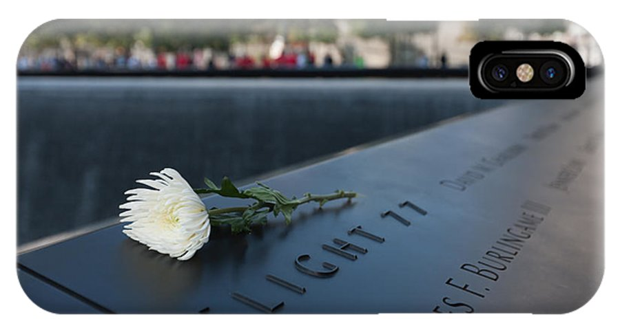 Clarence Holmes IPhone X Case featuring the photograph September 11 Memorial Flower by Clarence Holmes