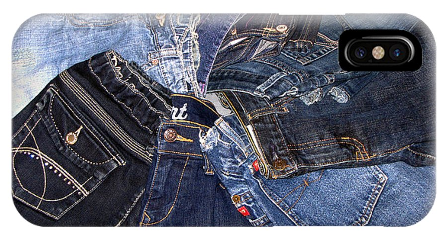 Denim IPhone X / XS Case featuring the photograph Shades Of Denim by Denise Keegan Frawley