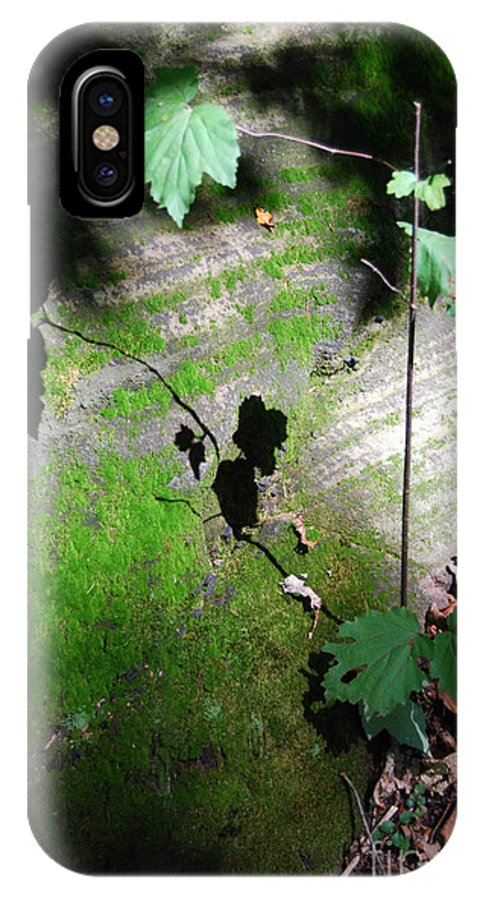 Moss IPhone X Case featuring the photograph Shadow Play by Trish Hale