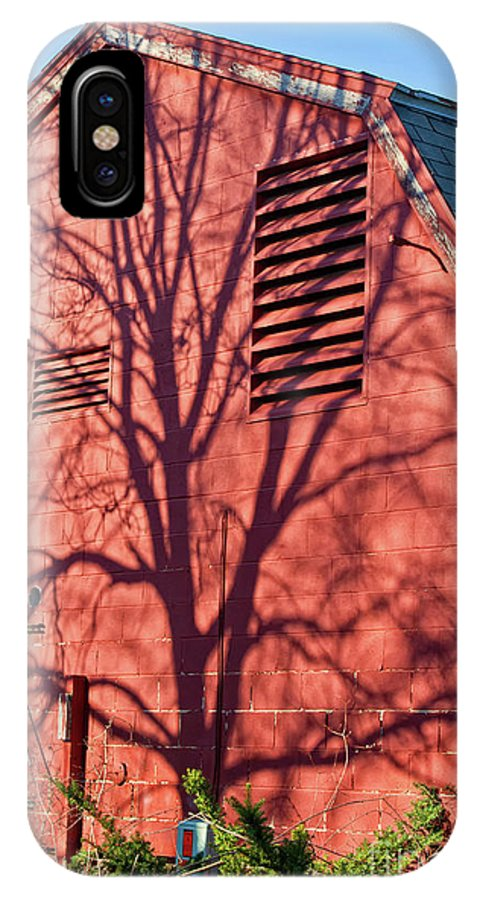 Shadows IPhone X Case featuring the photograph Shadows On The Wall by Carolyn Fox