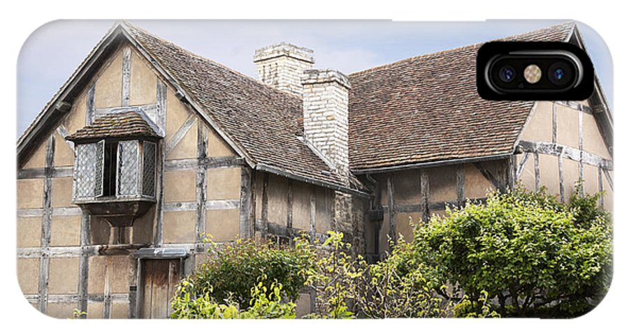 Architecture IPhone X / XS Case featuring the photograph Shakespeare's Birthplace. by Jane Rix
