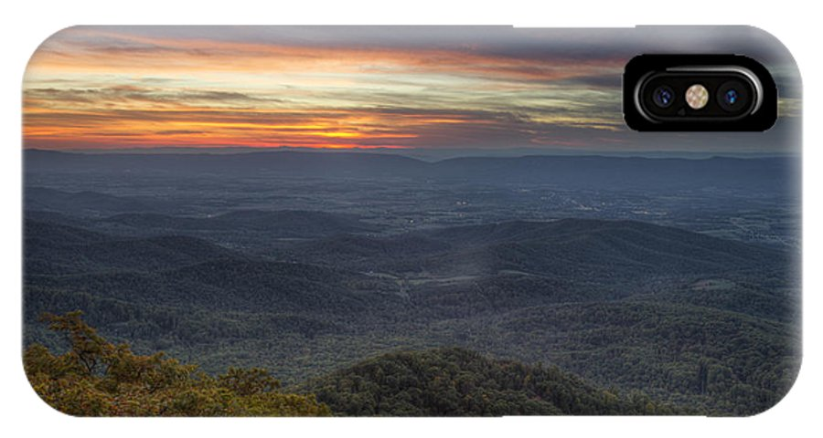 Shenandoah IPhone X Case featuring the photograph Shenandoah Sunset by Pierre Leclerc Photography