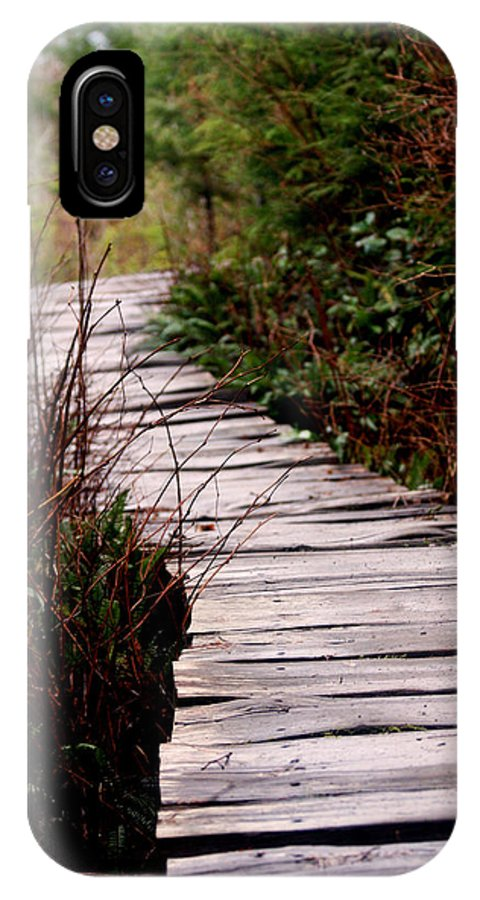 Trails IPhone X Case featuring the photograph Shi Shi Boardwalk by Marie Jamieson