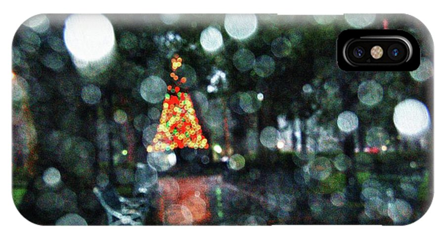 Alabama Photographer IPhone X Case featuring the digital art Shiny Tree In Bienville Square by Michael Thomas