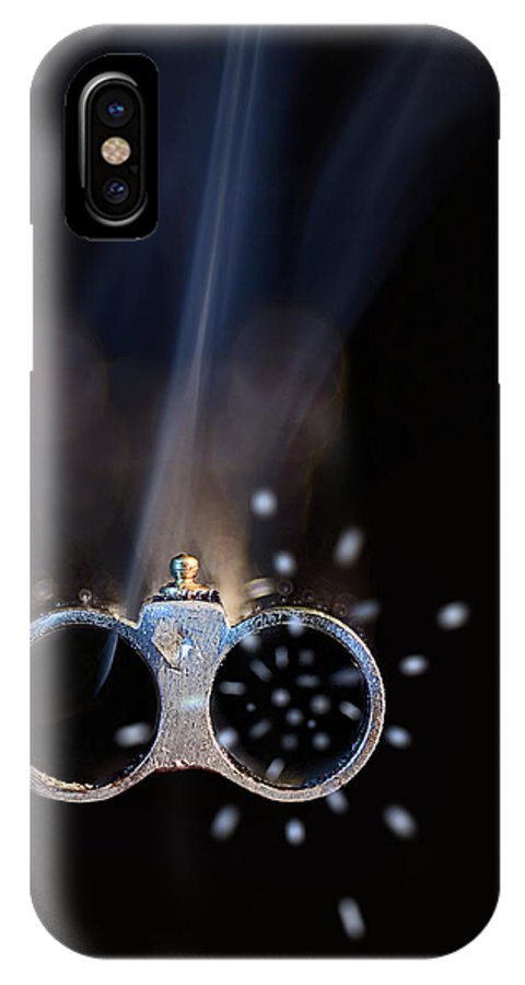 Endre IPhone X Case featuring the photograph Shotgun Blast by Endre Balogh