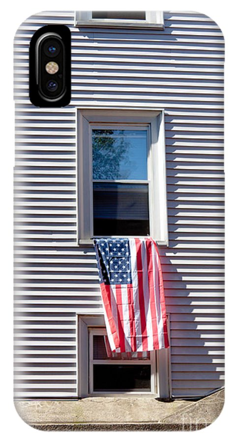 Architecture IPhone X Case featuring the photograph Showing The Flag by Thomas Marchessault