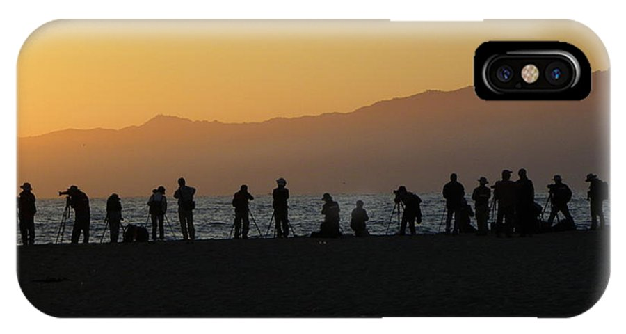 Photographers IPhone X Case featuring the photograph Shutterbugs At Sunset by Henry Murray