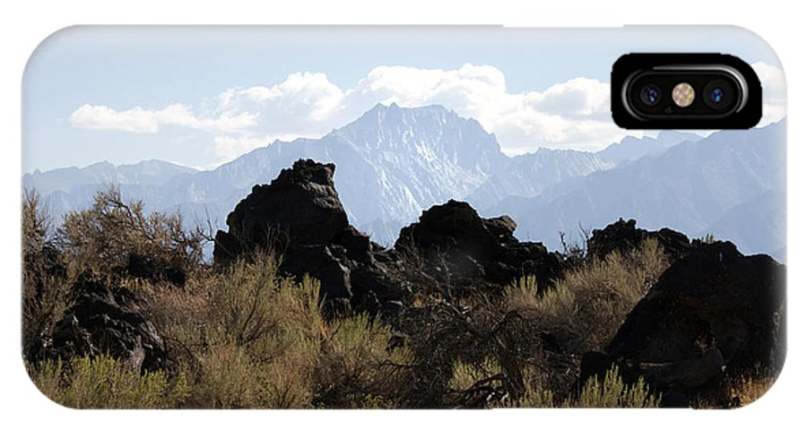 Mammoth Mountains IPhone X Case featuring the photograph Sierra Mountain Lava Rocks by Linda Dunn