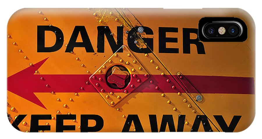 Photography IPhone X Case featuring the photograph Signs Of Danger by David Lee Thompson