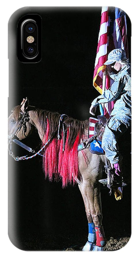 Rodeo IPhone X Case featuring the photograph Silence by Elizabeth Hart