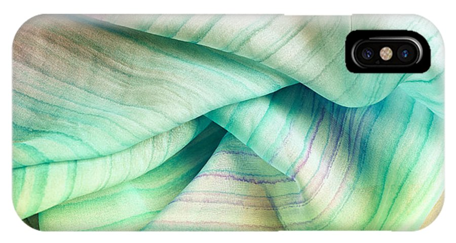 Abstract IPhone X Case featuring the photograph Silk Scarf by Gabriela Insuratelu