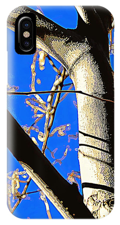 Bare Tree IPhone X Case featuring the photograph Silk Tree by Diane montana Jansson