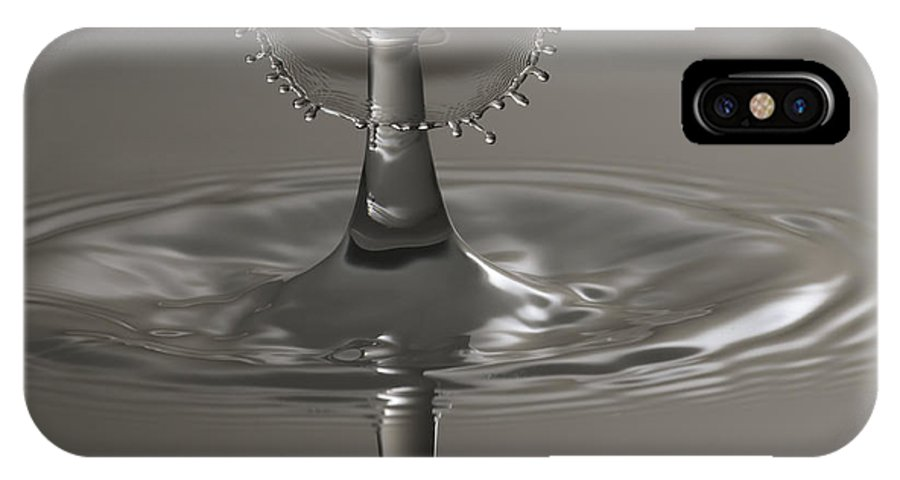 Water IPhone X Case featuring the photograph Silver Reflections by Nick Field