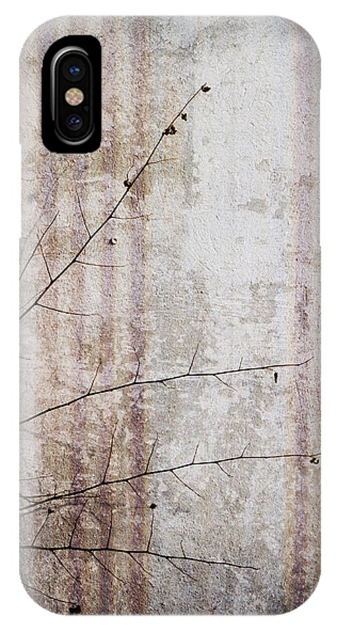 Grunge IPhone X / XS Case featuring the photograph Simple Things Abstract by Kathy Clark