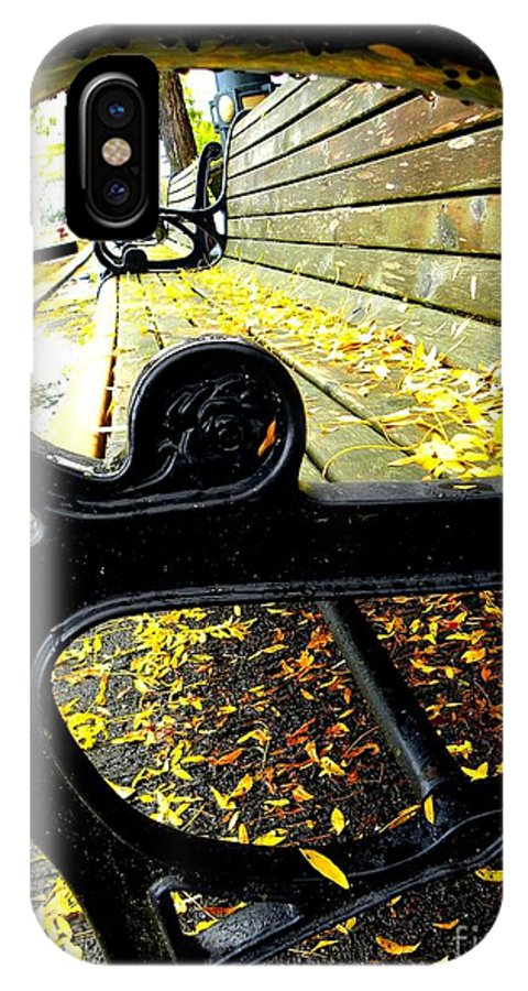 Bench IPhone X Case featuring the photograph Sit With Me by Tisha Clinkenbeard