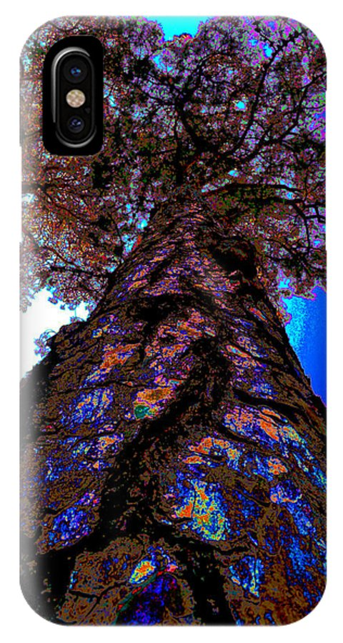 Abstract Photography IPhone X Case featuring the photograph Skies The Limit Abstract by Wendell Ducharme Jr