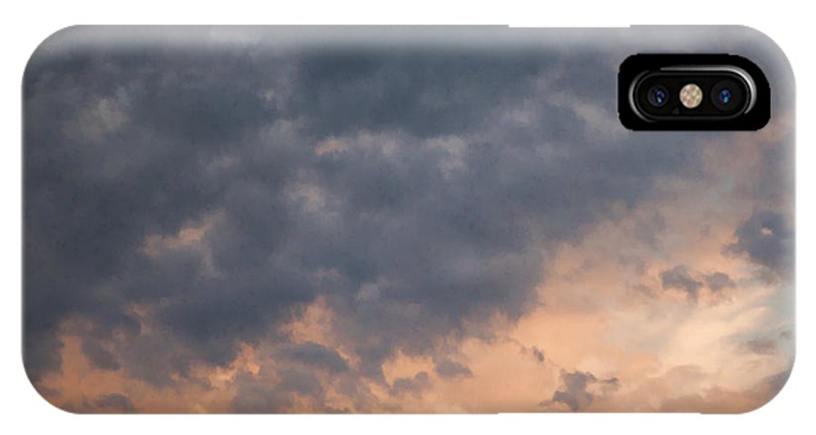 Clouds IPhone X Case featuring the photograph Sky 1 by John Crothers