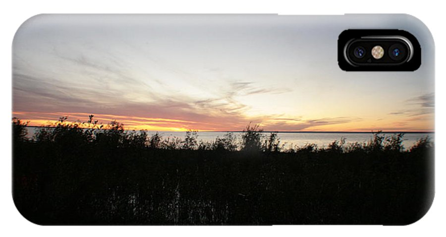 Lake Sunset IPhone X Case featuring the photograph Slave Lake by Johnathan Evans