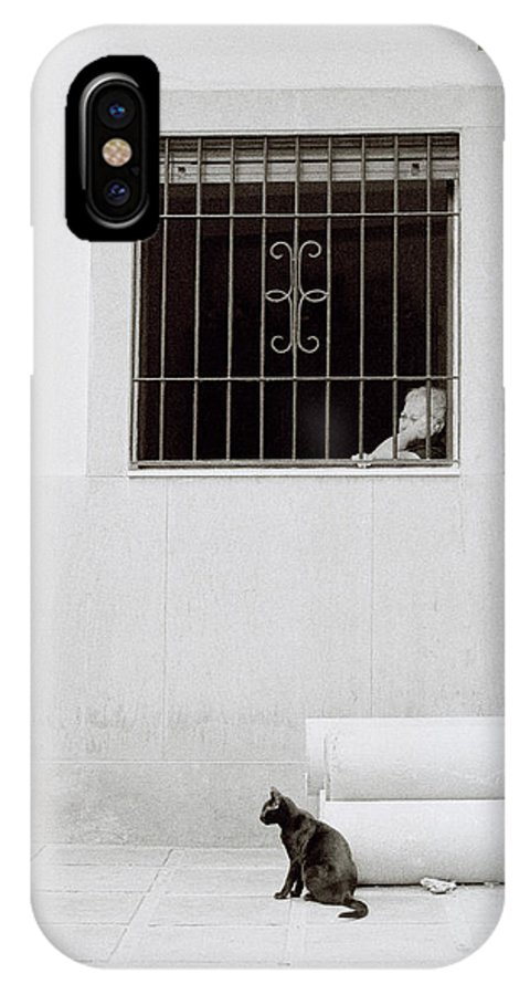 Cat IPhone X Case featuring the photograph A Sleepy Afternoon by Shaun Higson