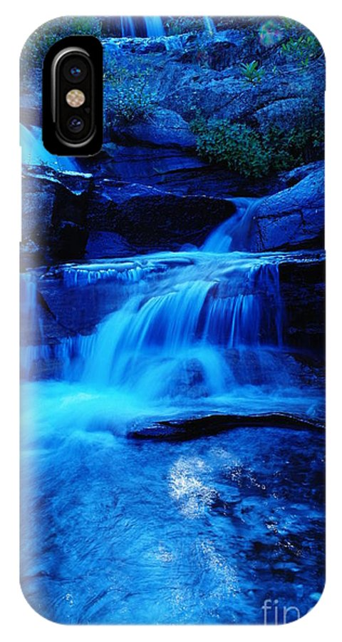 Waterfalls IPhone X Case featuring the photograph Small Waterfall Going Into Spirit Lake by Jeff Swan