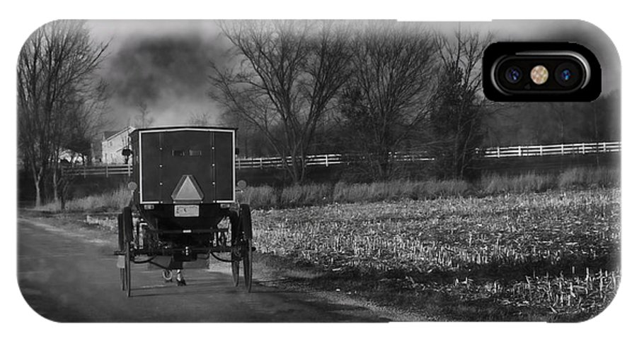 Amish IPhone X Case featuring the photograph Smoke In The Air by David Arment