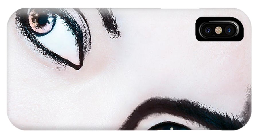 Smokey Eyes Canvas Prints IPhone X Case featuring the digital art Smokey Eyes Of A Woman by Ester Rogers