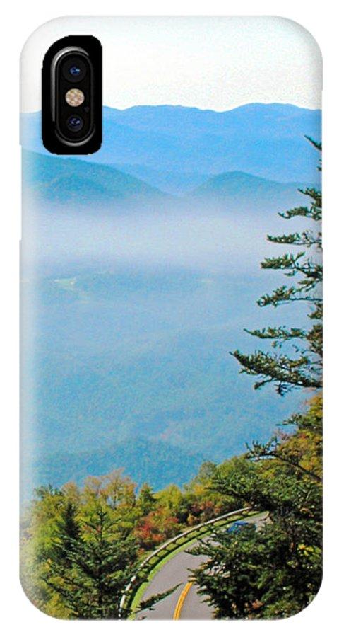 Mountain IPhone X Case featuring the digital art Smoky Mountain View by Lizi Beard-Ward