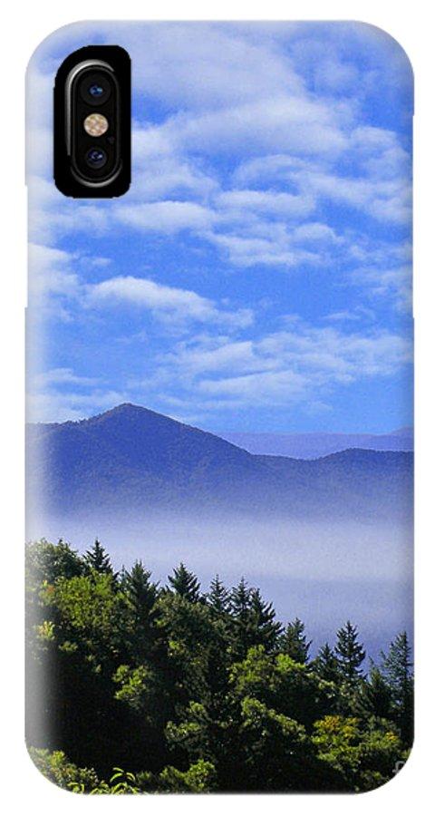 Mountains IPhone X Case featuring the digital art Smoky Mountains by Lizi Beard-Ward