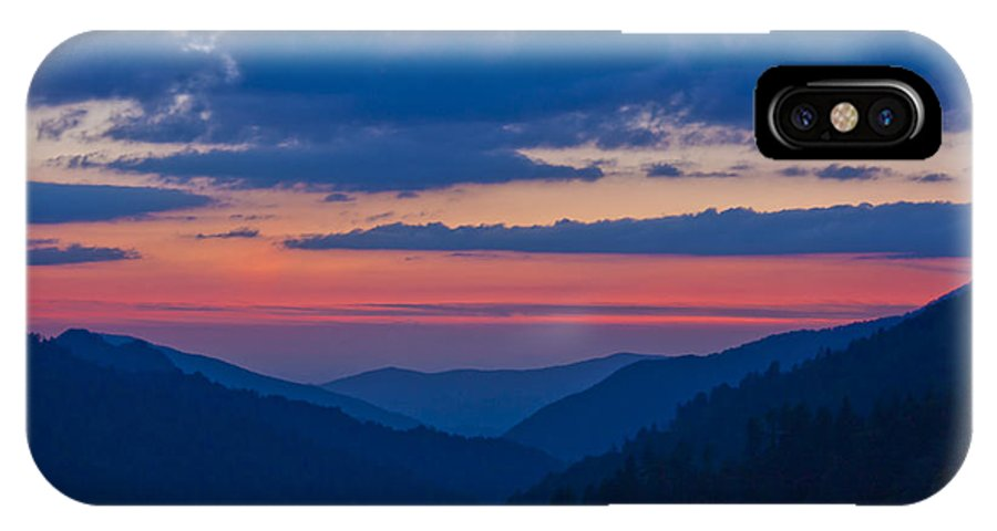 Landscape IPhone X Case featuring the photograph Smoky Mtn Sunset by Kenneth Green
