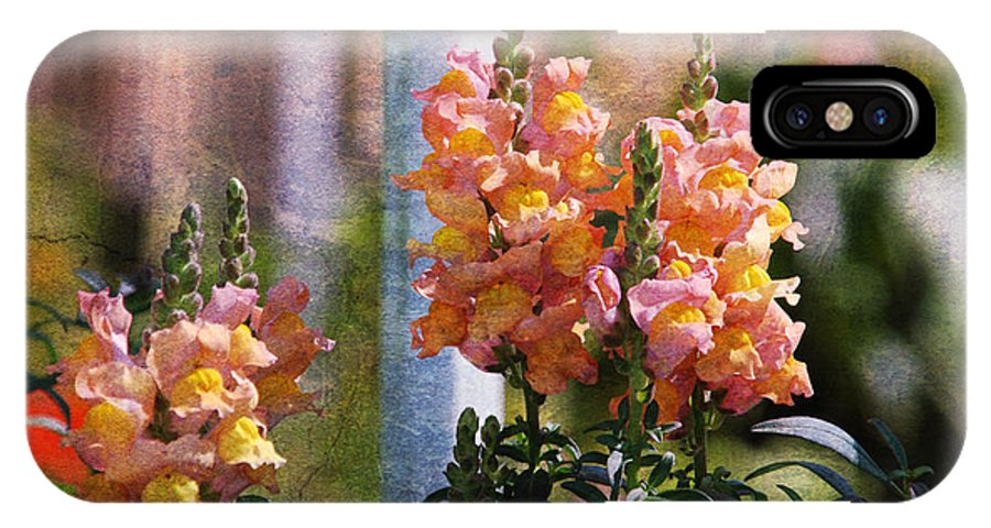 Snapdragons IPhone X / XS Case featuring the photograph Snapdragons by Susanne Van Hulst