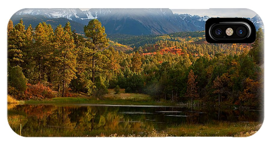 Mt. Sneffels IPhone X Case featuring the photograph Sneffels Reflections by Jennifer Grover