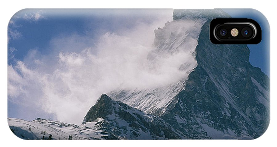 Europe IPhone X / XS Case featuring the photograph Snow Blows Off Of The Matterhorn by Gordon Wiltsie