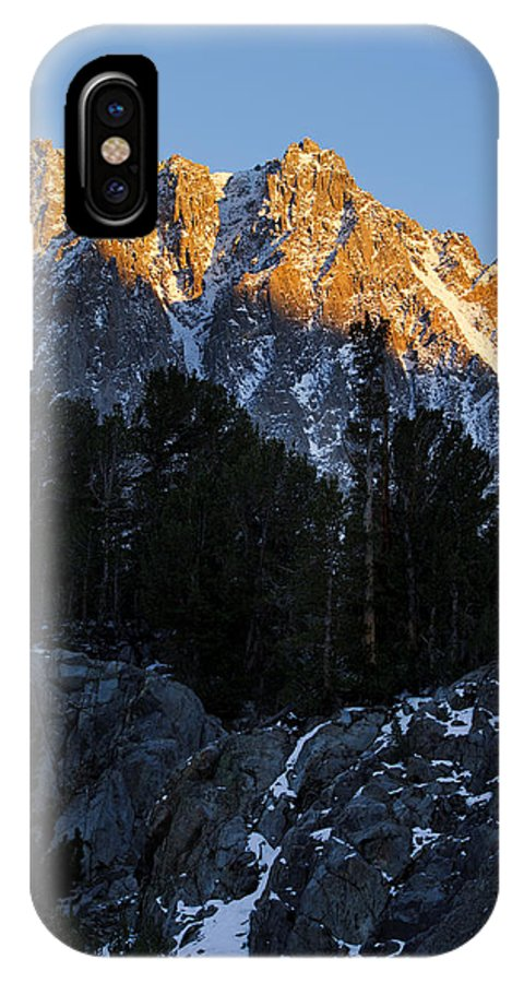 Autumn IPhone X Case featuring the photograph Snow Capped Ridge by MakenaStockMedia