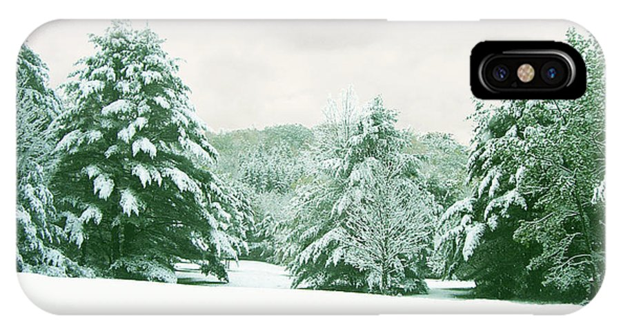 Snow IPhone X Case featuring the photograph Snow Covered Countryside by Michael Waters